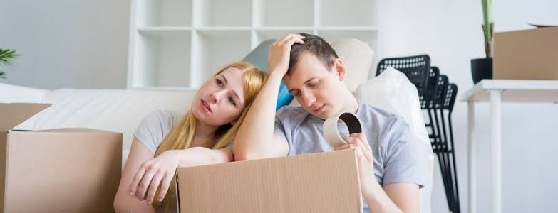 A couple is worrying about their house move